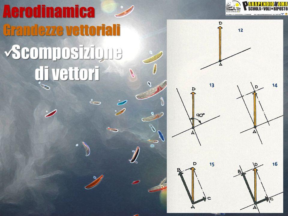 Aerodinamica Grandezze vettoriali Scomposizione di vettori