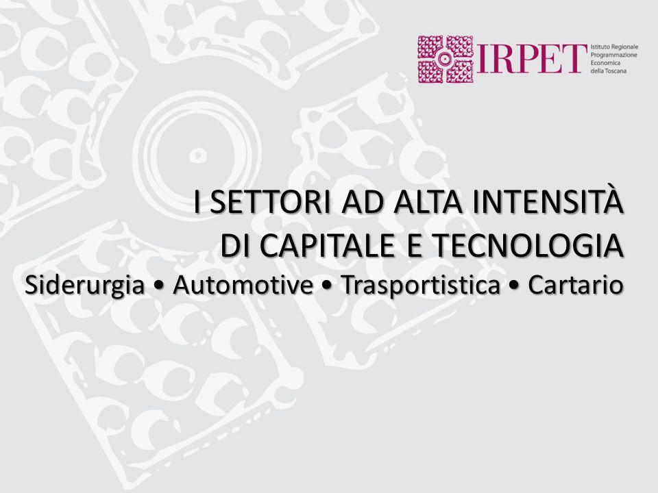 I SETTORI AD ALTA INTENSITÀ DI CAPITALE E TECNOLOGIA