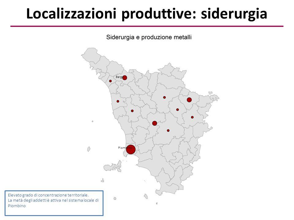 Localizzazioni produttive: siderurgia