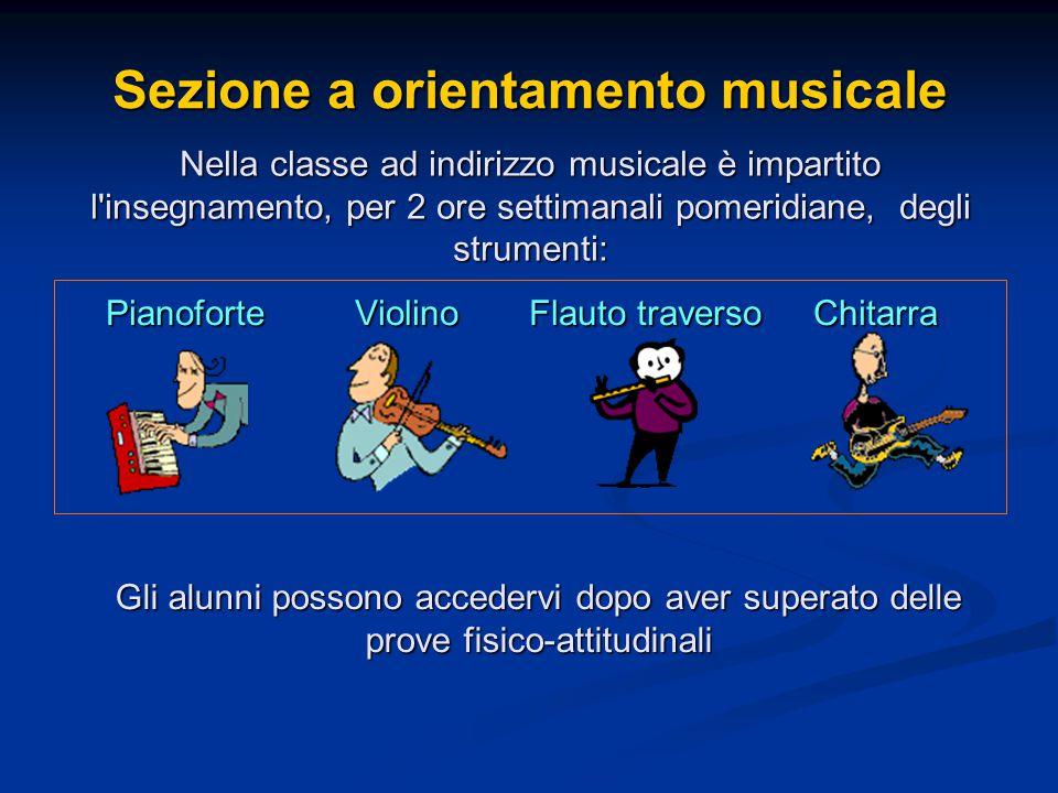 Sezione a orientamento musicale