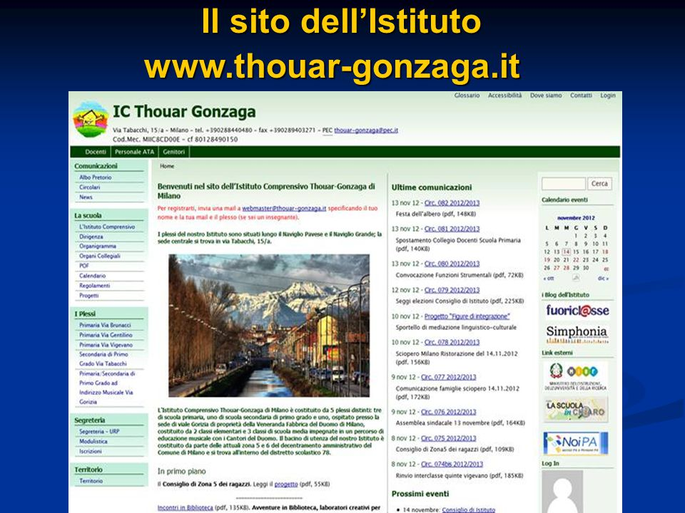 Il sito dell'Istituto www.thouar-gonzaga.it