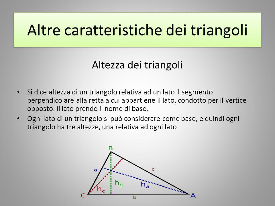 Altre caratteristiche dei triangoli