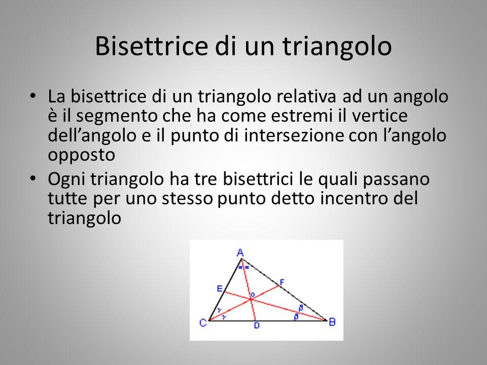 Bisettrice di un triangolo