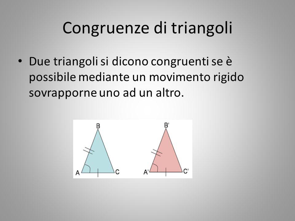 Congruenze di triangoli