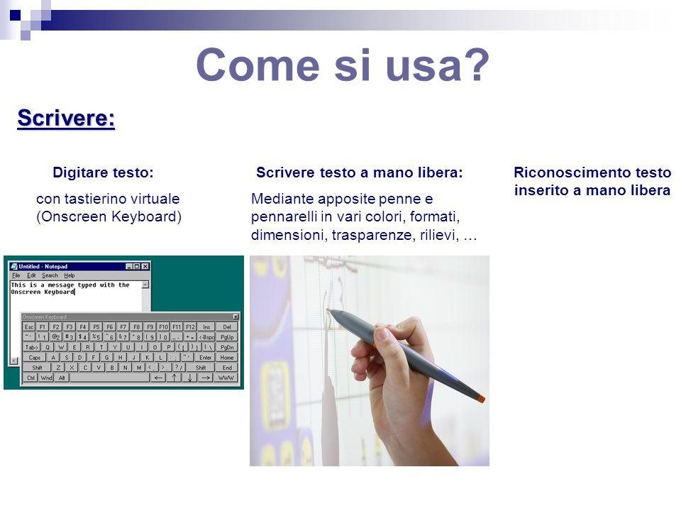 Come si usa Scrivere: Digitare testo: Scrivere testo a mano libera: