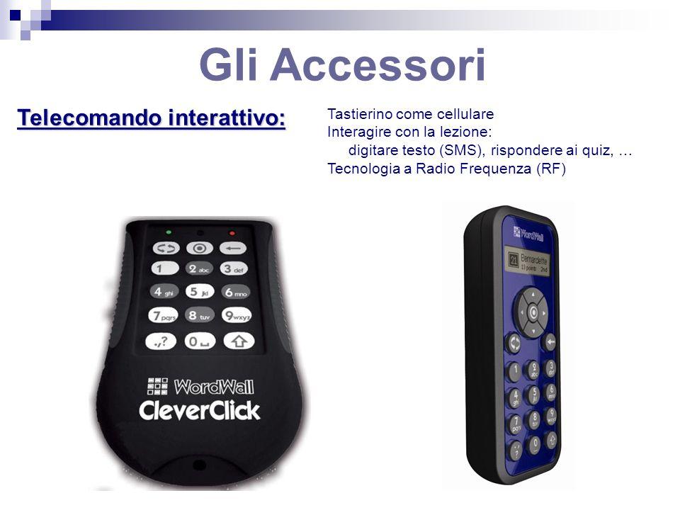 Gli Accessori Telecomando interattivo: Tastierino come cellulare