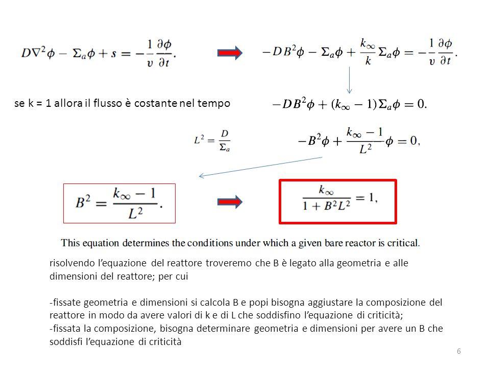 se k = 1 allora il flusso è costante nel tempo