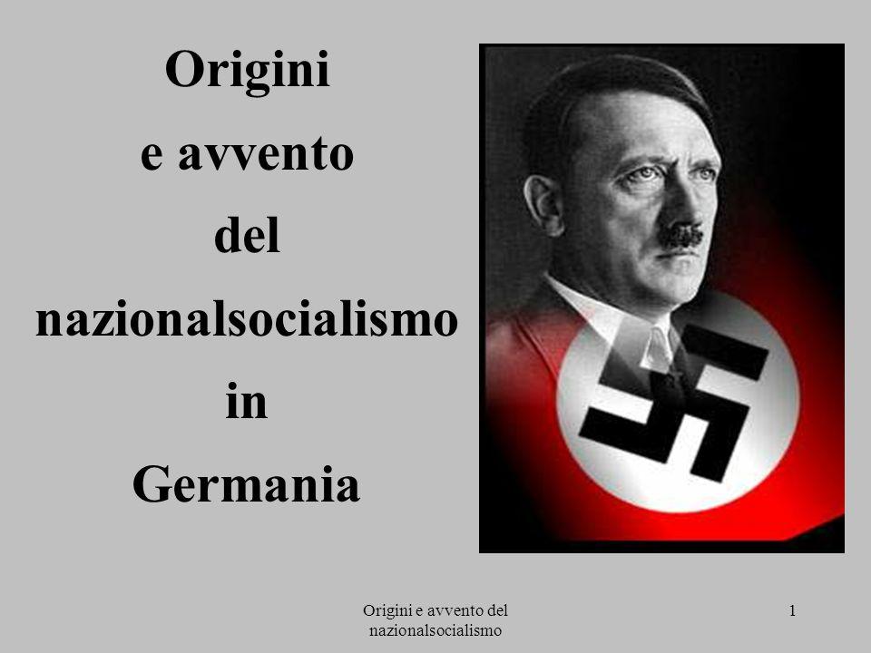 Origini e avvento del nazionalsocialismo