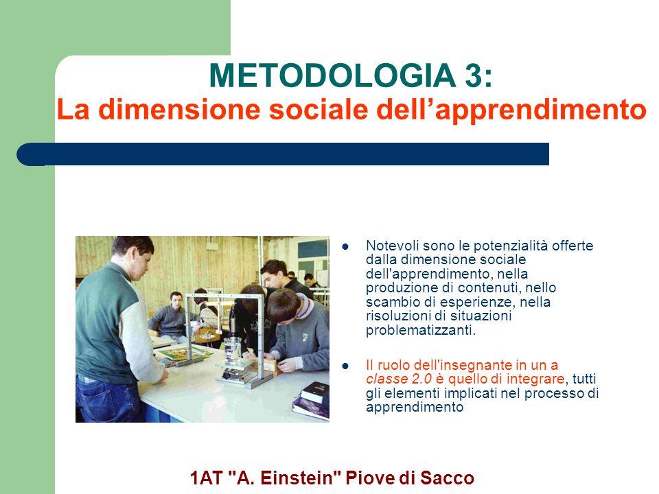 METODOLOGIA 3: La dimensione sociale dell'apprendimento