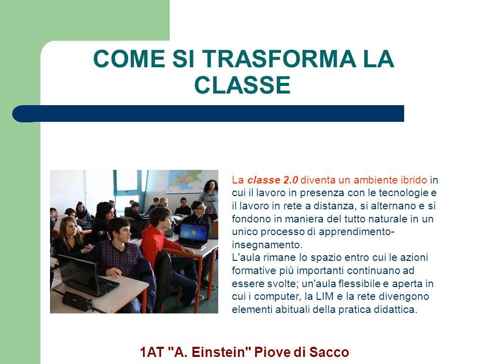 COME SI TRASFORMA LA CLASSE 1AT A. Einstein Piove di Sacco