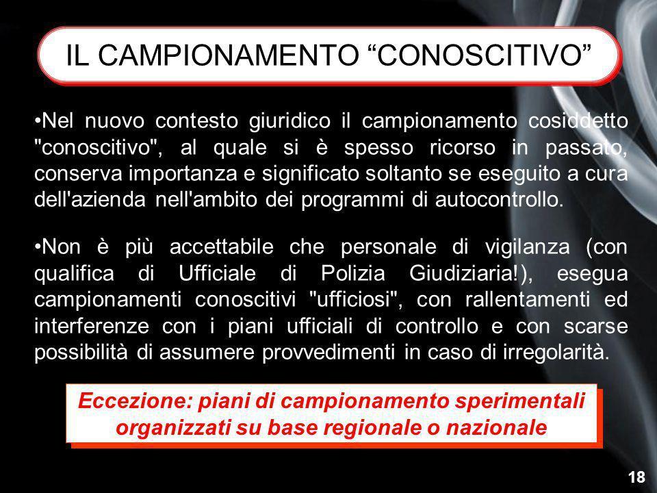 IL CAMPIONAMENTO CONOSCITIVO