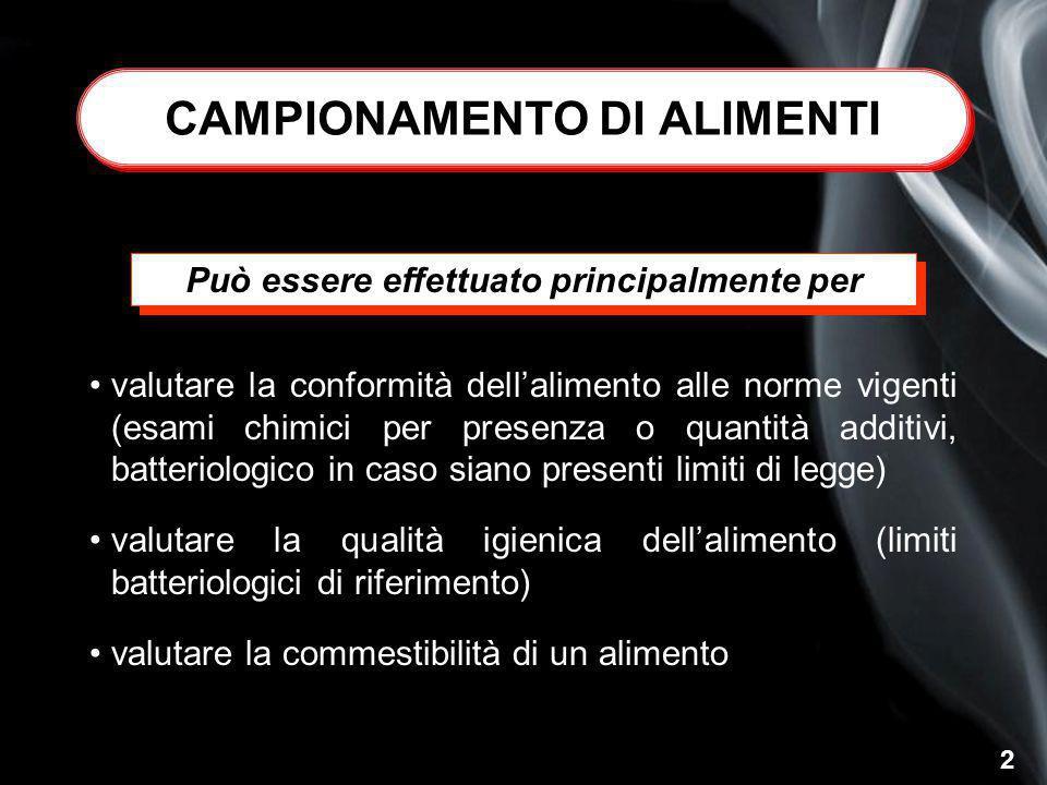 CAMPIONAMENTO DI ALIMENTI
