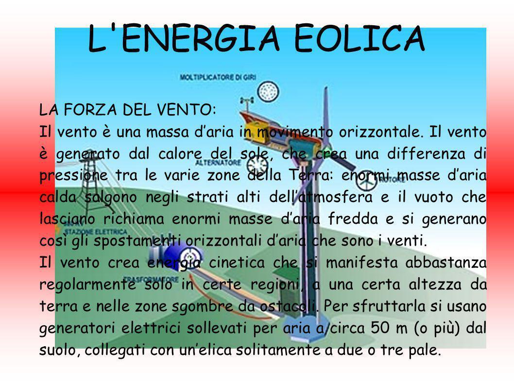 L ENERGIA EOLICA LA FORZA DEL VENTO: