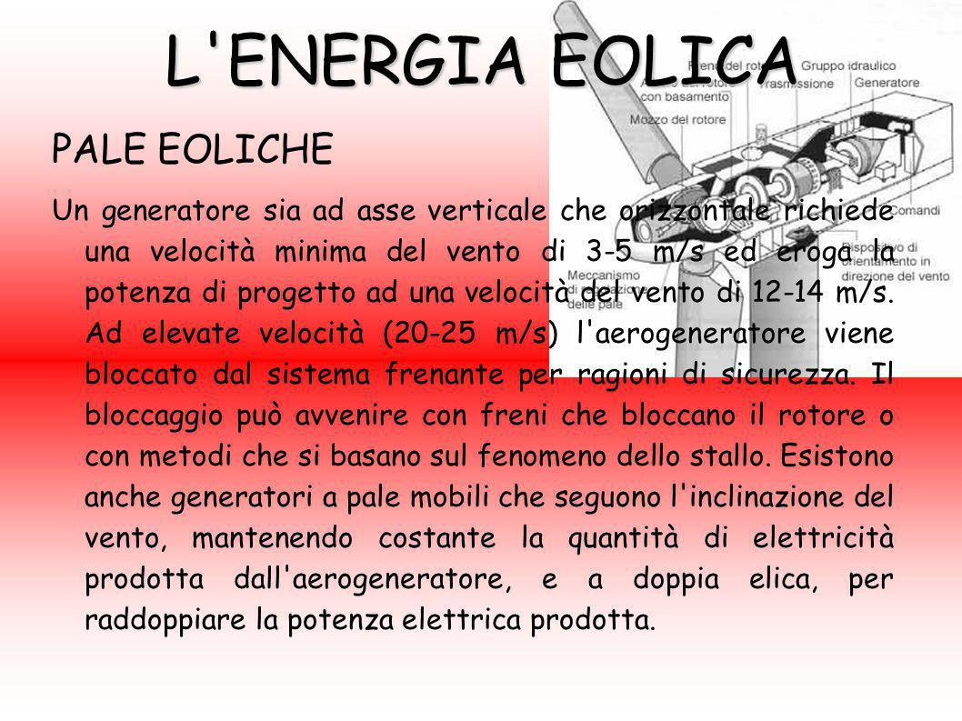 L ENERGIA EOLICA PALE EOLICHE