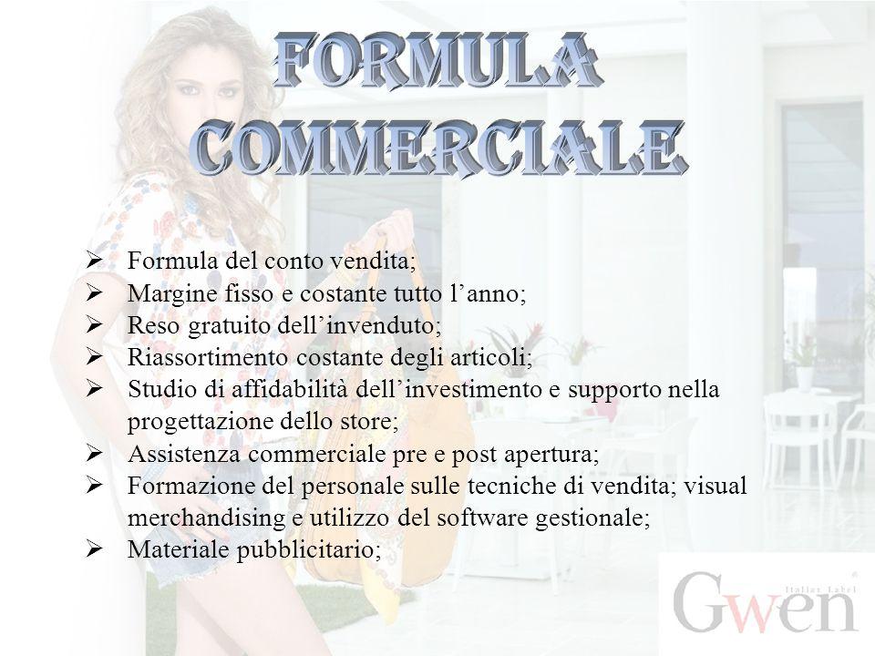 Formula commerciale Formula del conto vendita;
