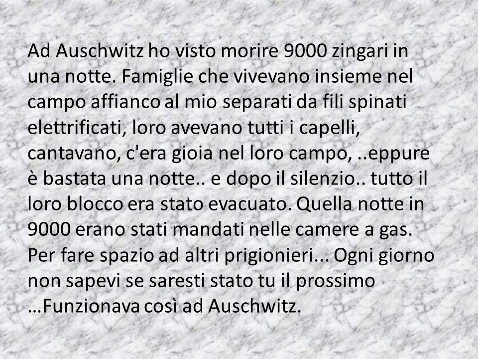 Ad Auschwitz ho visto morire 9000 zingari in una notte