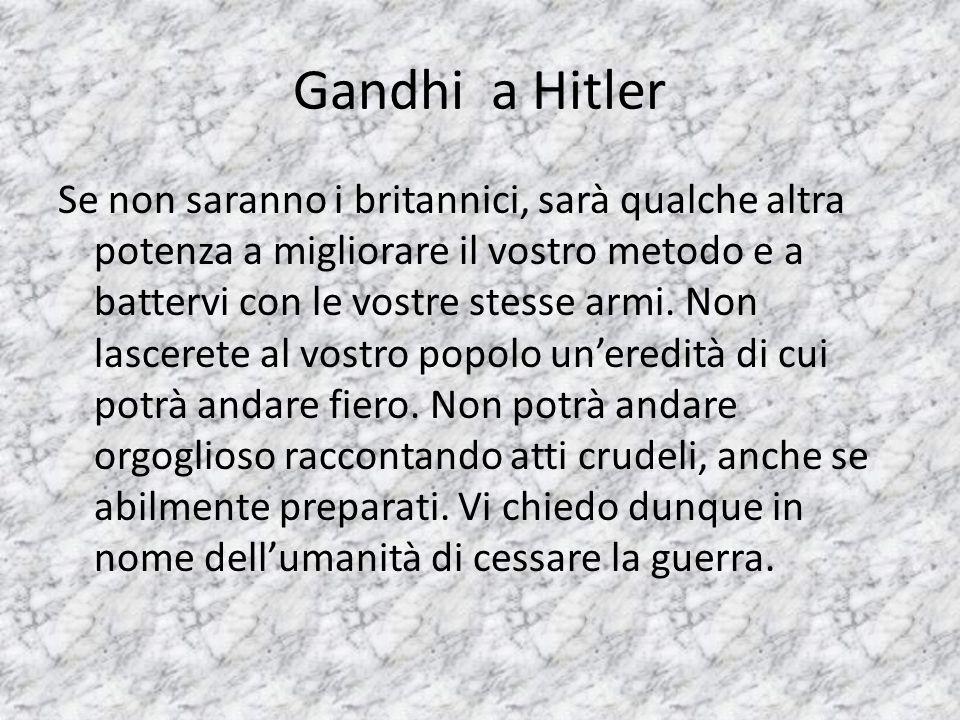 Gandhi a Hitler