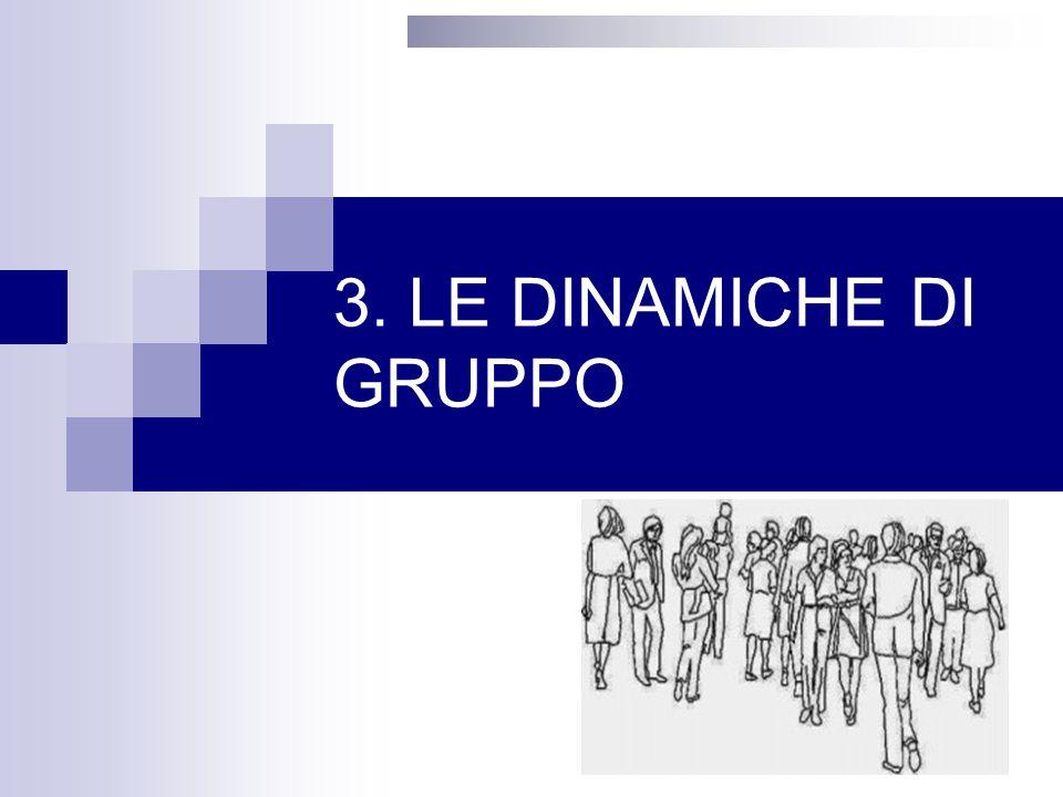 3. LE DINAMICHE DI GRUPPO