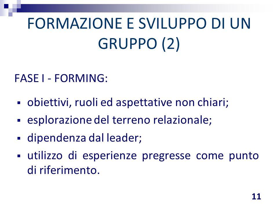FORMAZIONE E SVILUPPO DI UN GRUPPO (2)