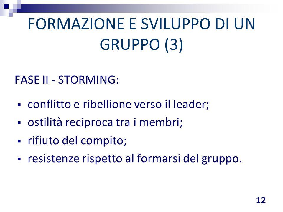 FORMAZIONE E SVILUPPO DI UN GRUPPO (3)