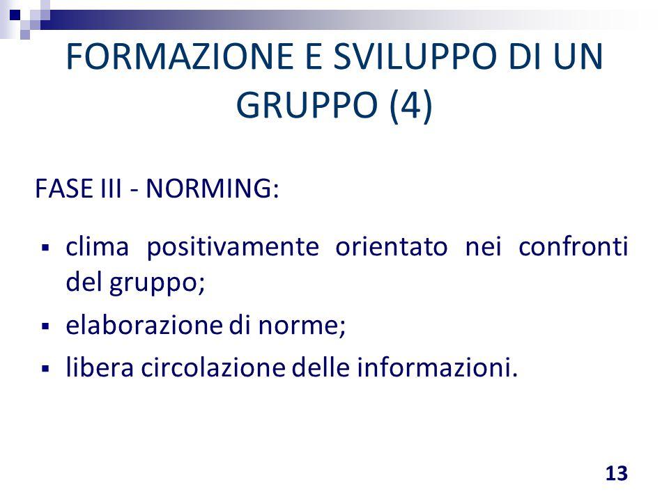 FORMAZIONE E SVILUPPO DI UN GRUPPO (4)