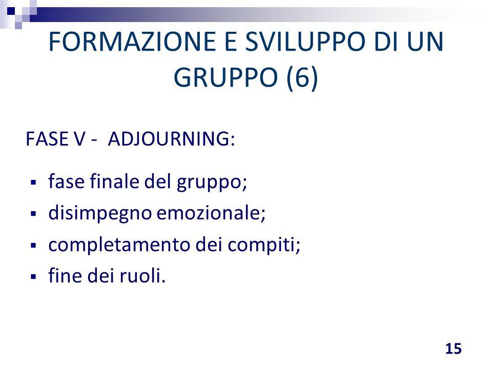 FORMAZIONE E SVILUPPO DI UN GRUPPO (6)