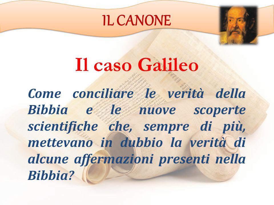 Il caso Galileo IL CANONE