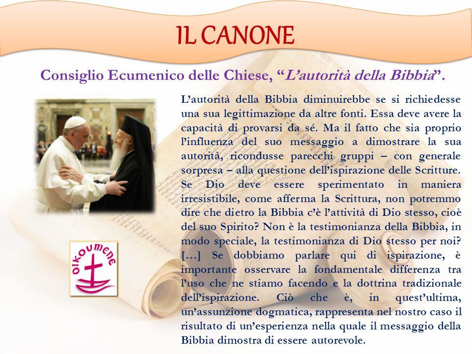 Consiglio Ecumenico delle Chiese, L'autorità della Bibbia .
