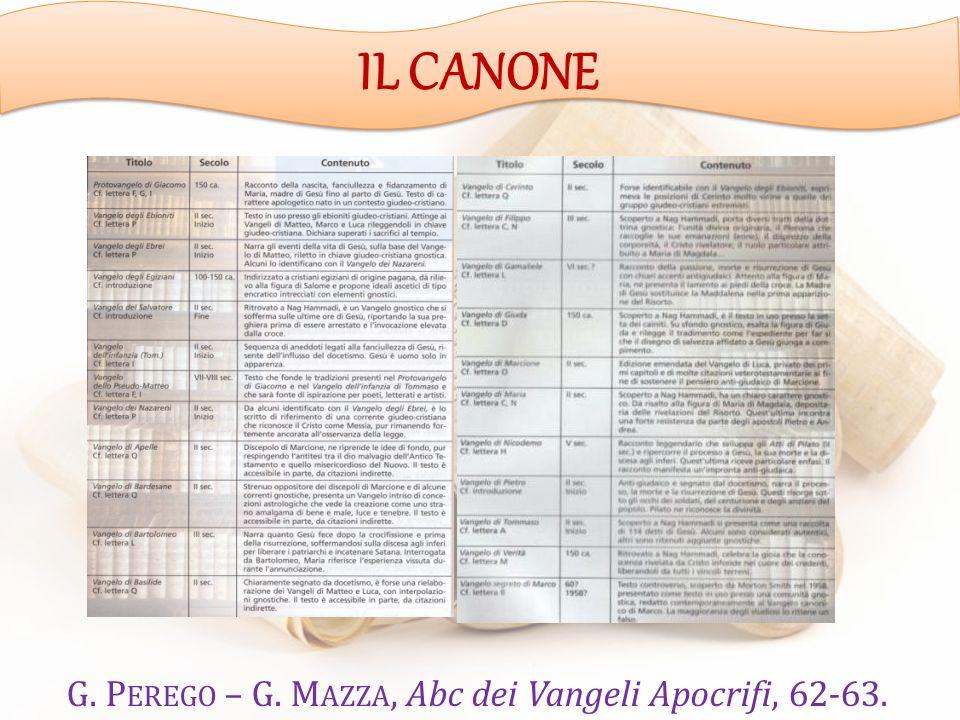 G. Perego – G. Mazza, Abc dei Vangeli Apocrifi, 62-63.