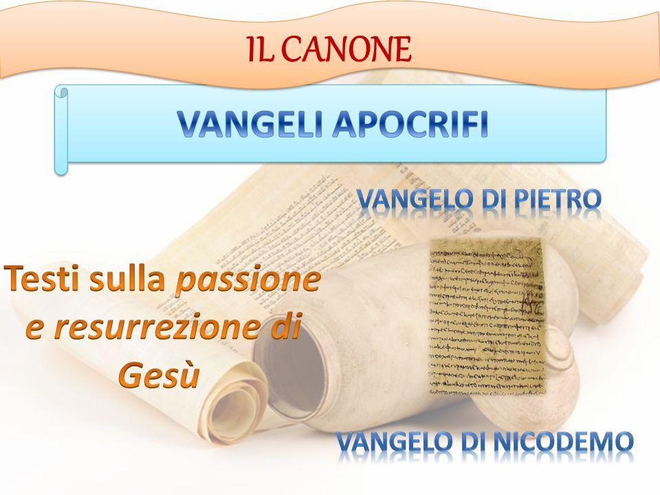 IL CANONE VANGELI APOCRIFI Testi sulla passione e resurrezione di Gesù