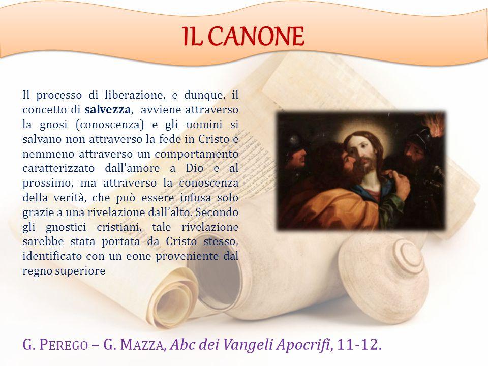 IL CANONE G. Perego – G. Mazza, Abc dei Vangeli Apocrifi, 11-12.