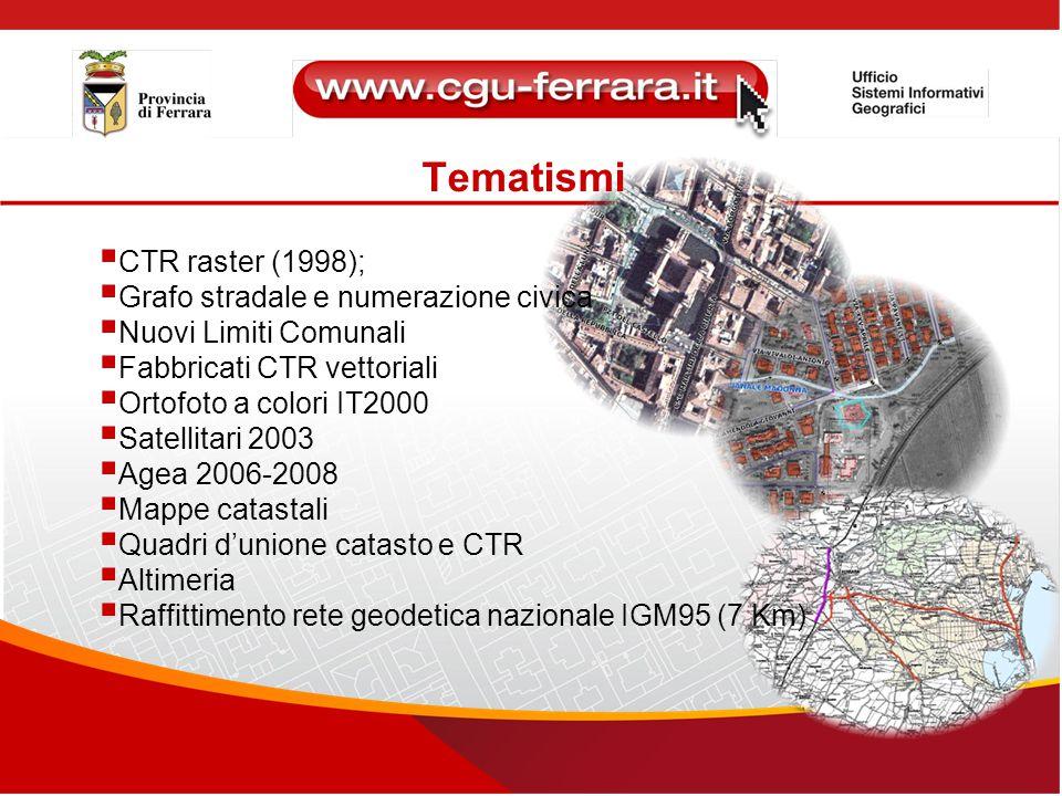 Tematismi CTR raster (1998); Grafo stradale e numerazione civica