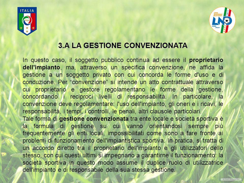 3.A LA GESTIONE CONVENZIONATA