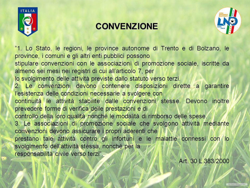 CONVENZIONE 1. Lo Stato, le regioni, le province autonome di Trento e di Bolzano, le province, i comuni e gli altri enti pubblici possono.