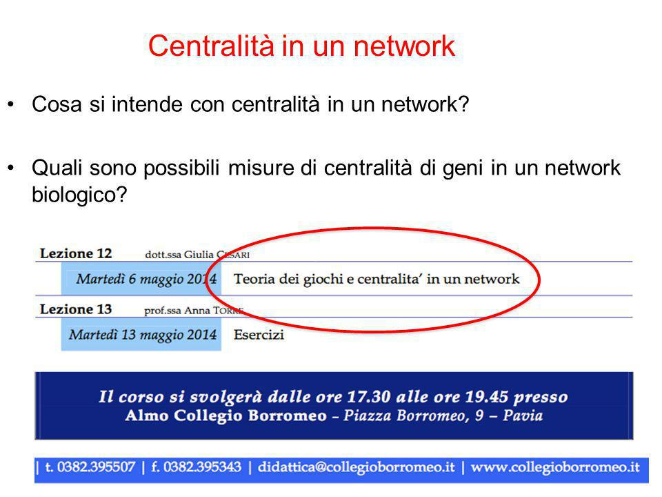 Centralità in un network