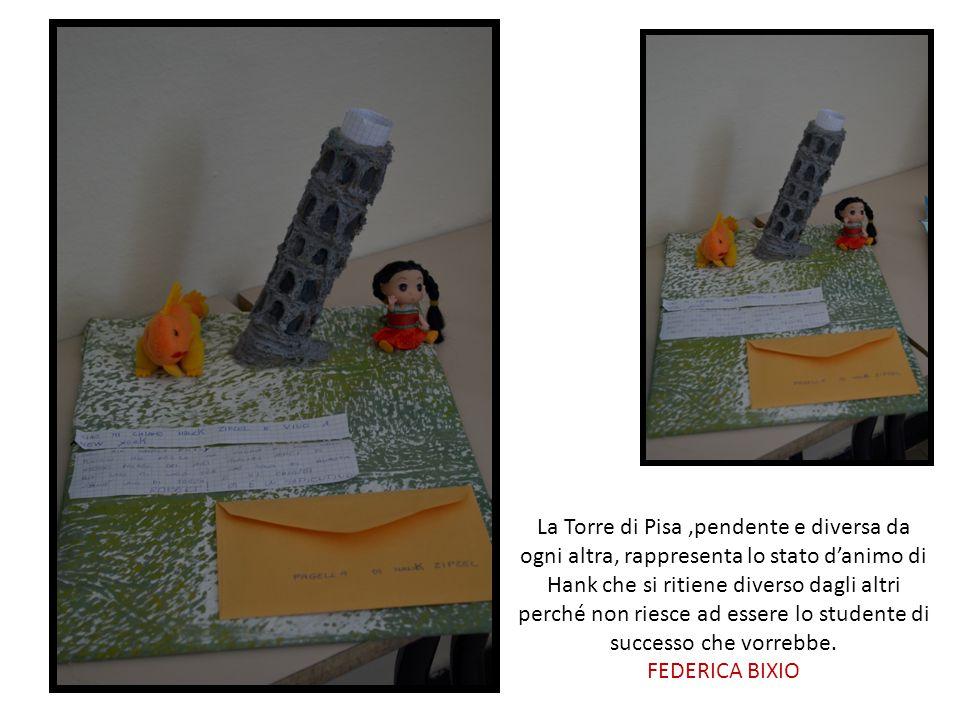 La Torre di Pisa ,pendente e diversa da ogni altra, rappresenta lo stato d'animo di Hank che si ritiene diverso dagli altri perché non riesce ad essere lo studente di successo che vorrebbe.