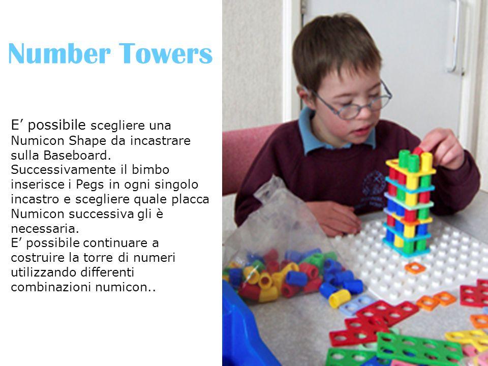 Number Towers E' possibile scegliere una Numicon Shape da incastrare