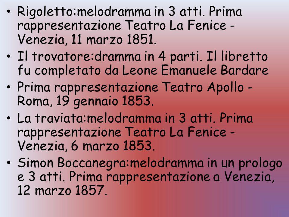 Rigoletto:melodramma in 3 atti