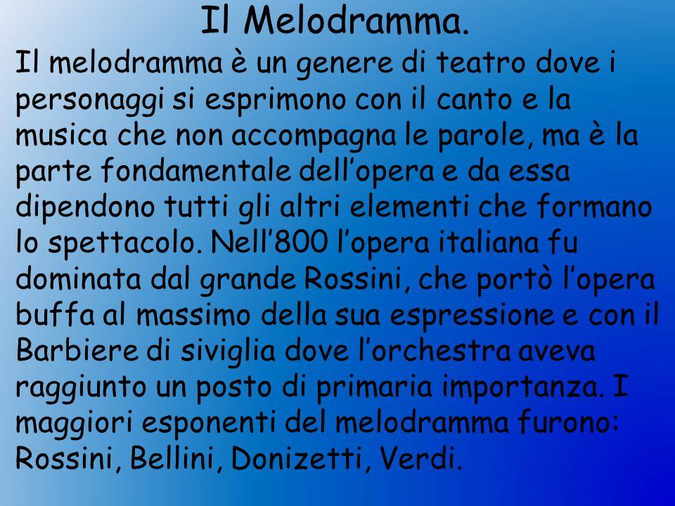 Il Melodramma.