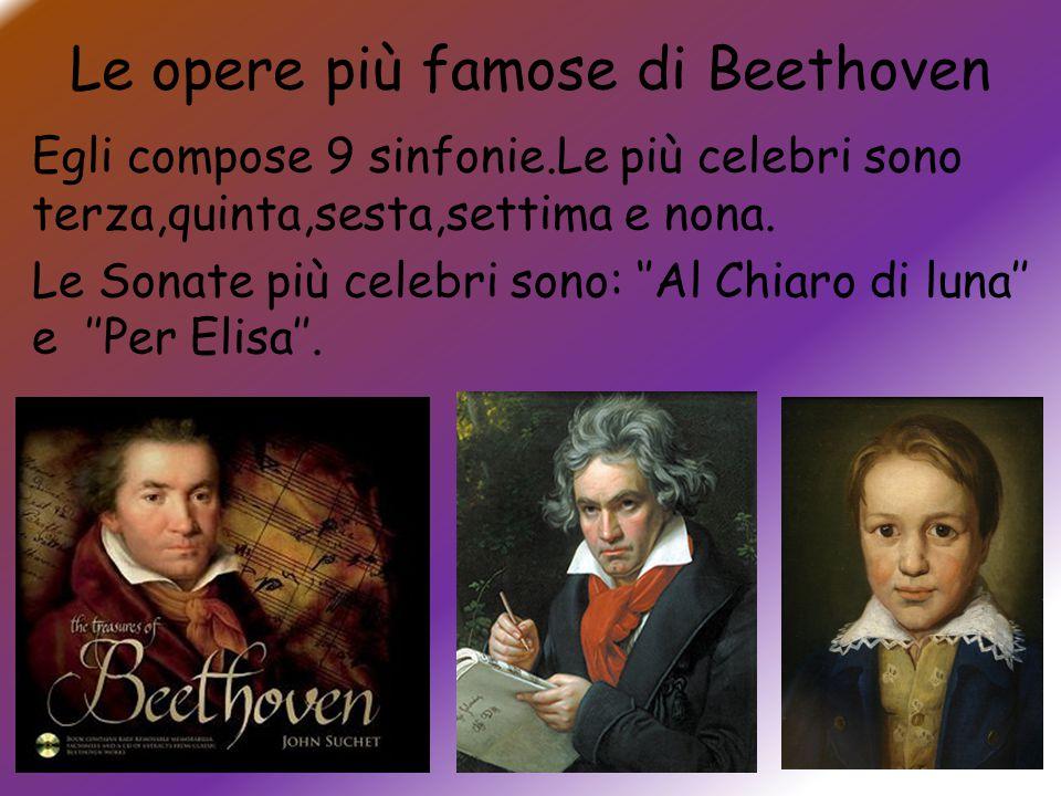 Le opere più famose di Beethoven