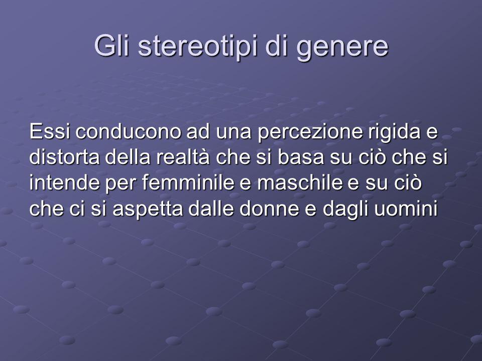 Gli stereotipi di genere