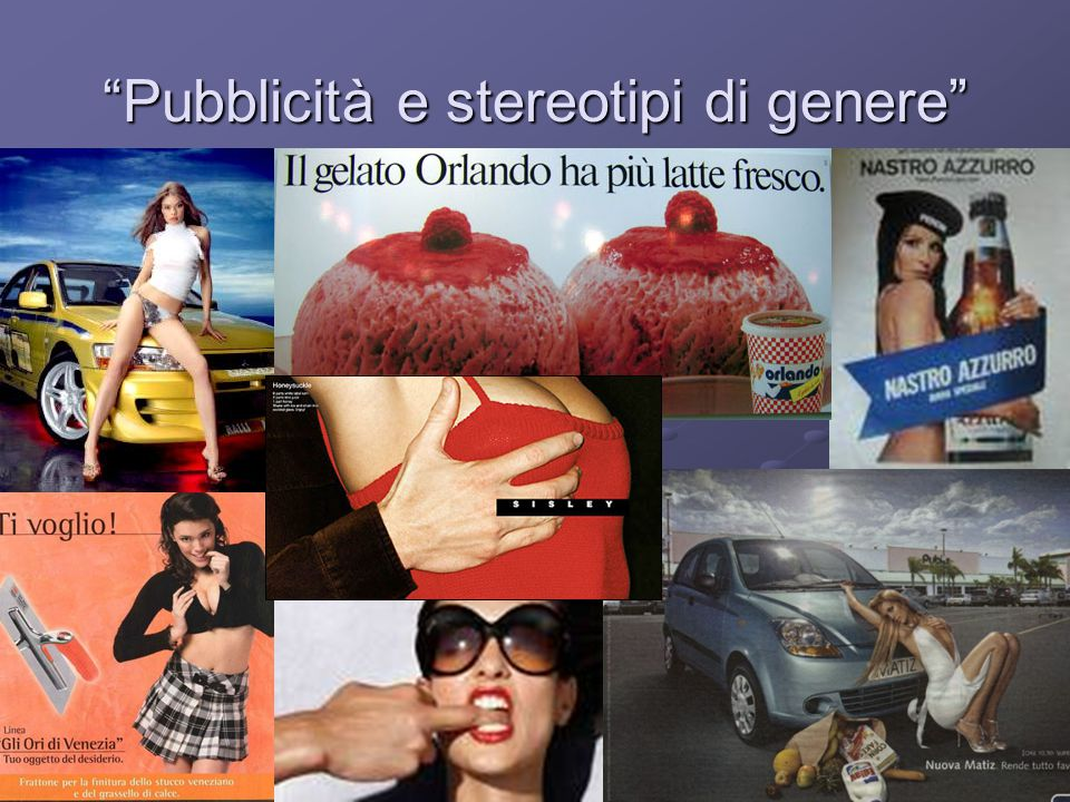 Pubblicità e stereotipi di genere