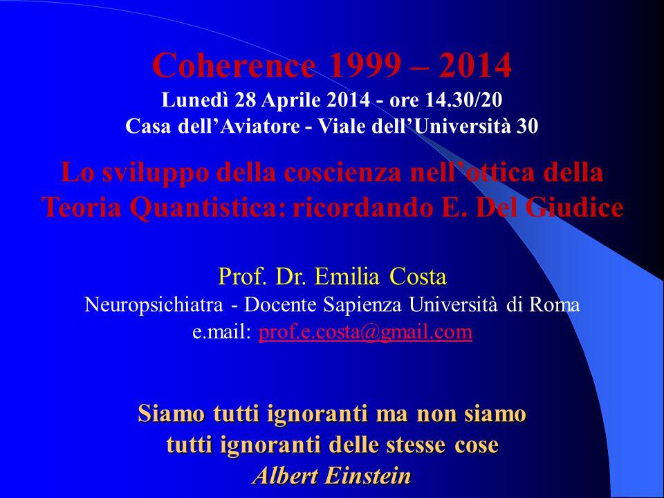 Coherence 1999 – 2014 Lunedì 28 Aprile 2014 - ore 14.30/20. Casa dell'Aviatore - Viale dell'Università 30.
