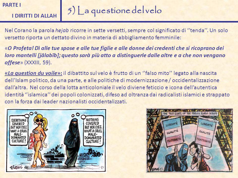 5) La questione del velo PARTE I I DIRITTI DI ALLAH