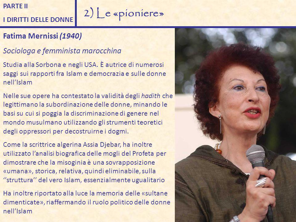 2) Le «pioniere» Fatima Mernissi (1940)