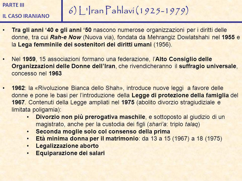 6) L Iran Pahlavi (1925-1979) PARTE III IL CASO IRANIANO
