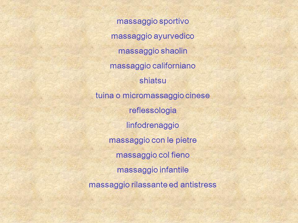 massaggio californiano shiatsu tuina o micromassaggio cinese