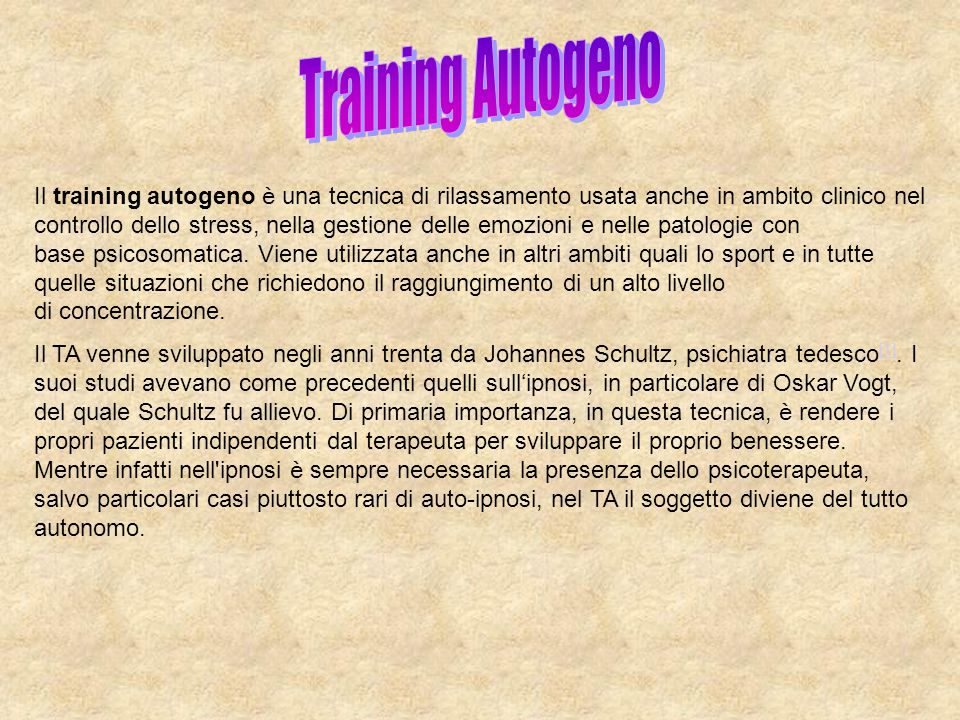 Training Autogeno