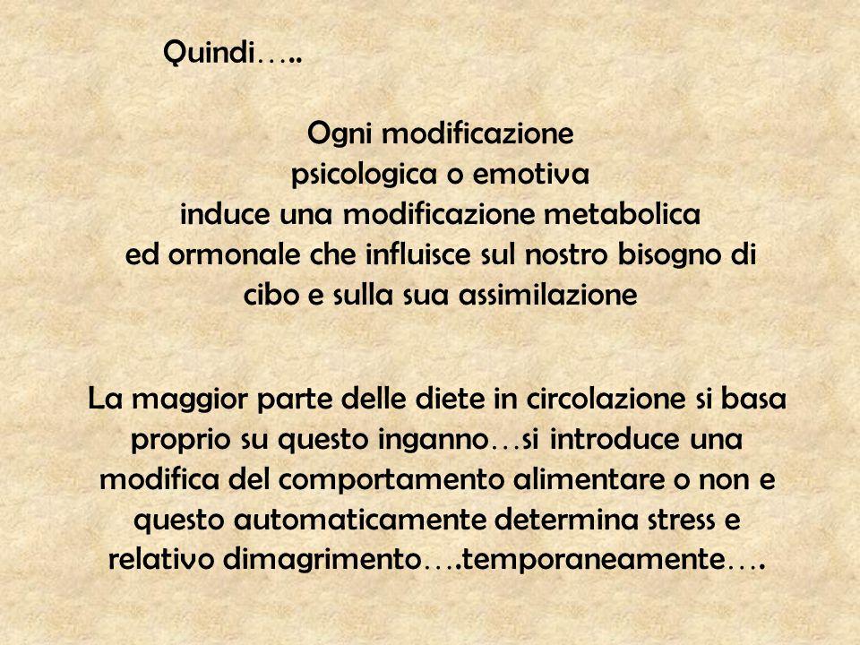 induce una modificazione metabolica