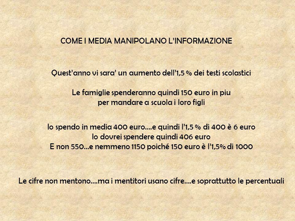 COME I MEDIA MANIPOLANO L'INFORMAZIONE